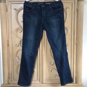 Sonoma slim stretchy straight jeans nwot 12